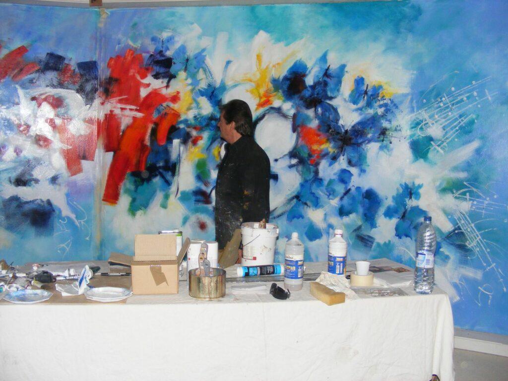 Septembre 2017 - Stage de peinture avec Casimir