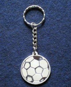 porte-clé ballon argenté gravé