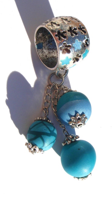 Pendentif de foulard turquoise