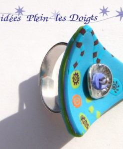 Bague atypique turquoise