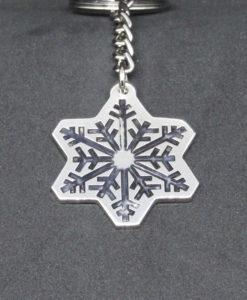 porte-clé cristal argenté gravé