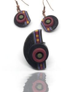 Coffret bijoux artisanaux graphiques et colorés