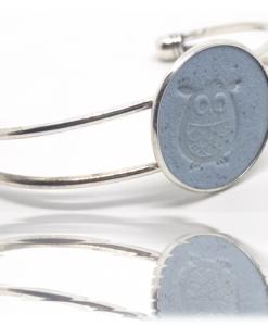 chouette bracelet au bleu de pastel