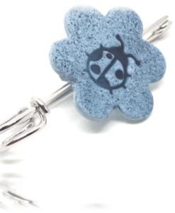 Broche Coccinelle Bleu de Pastel