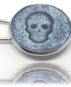 Broche Bleu de pastel skull