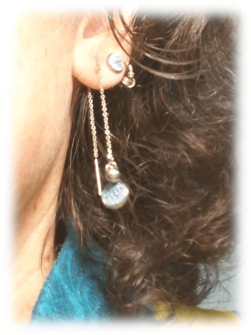 Boucles d'oreilles véniteinnes portées