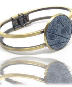 Bracelet ressorts, bronze et pastel