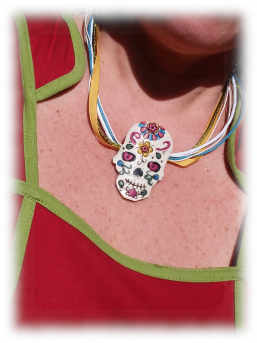 Mexican skull porté en pendentif