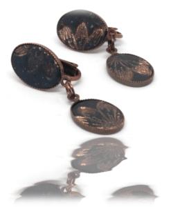 Clips pastel foncé et cuivre
