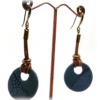 Boucles d'oreilles ethniques au bleu de pastel