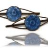 Barrettes Mandala Bleu de pastel